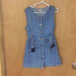 Other - Girls denim button up dress
